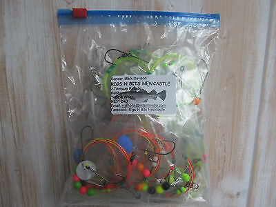 Sea fishing Rigs x 30 Pulleys Pennels, Ledgers, Flattie Rigs - Quality Rigs