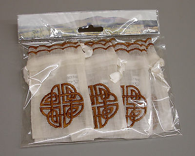 12x6 New Celtic Knot Scottish Irish Gaelic Embroidered Wedding Favour Bags ZK30