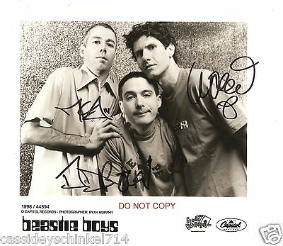 """The Beastie Boys band Reprint Signed 8x10"""" Photo RP ALL 3 Members"""