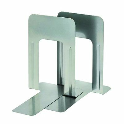 """STEELMASTER Soho Collection Deluxe Steel 9 """" Bookends, 1 Pair, Silver (24100915"""