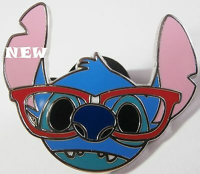 Disney TRADING Pin STITCH FACE  Nerds Rock Glasses