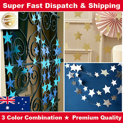 Star Shape Paper Garland Bunting Drop for Wedding Party Baby Shower Decoration