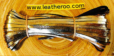 "Kangaroo Lace GOLD Kangaroo Leather Lacing 4.7mm (3/16"") Width 10 meter hank"