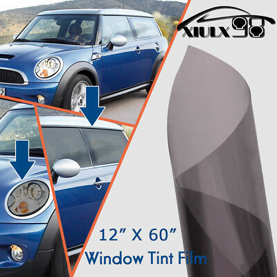 "12""x60"" Gray HeadLight Tail Light Sidemakers Smoke Window Tint Vinyl Film Sheet"