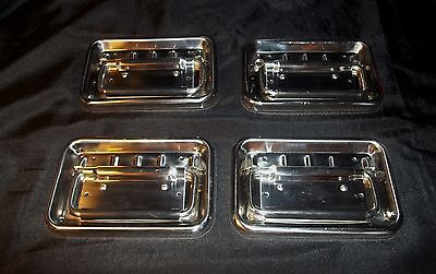 Drawer Pulls Industrial Machine Age Chrome Heavy duty Large Rubber Grip Handle