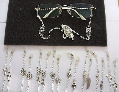 A Reading Glasses Spectacles Sunglasses Charm Metal Chain 64cm Neck Cord, Strap