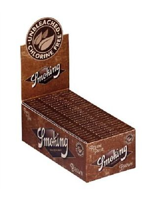 5 Packs (300 Leaves) BROWN SMOKING CLASSIC Cigarette Tobacco Rolling Papers