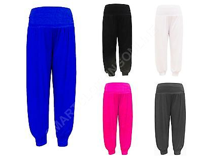 NEW GIRLS ALI BABA HAREM PANTS LEGGINGS TROUSERS 7 to 13 YEARS