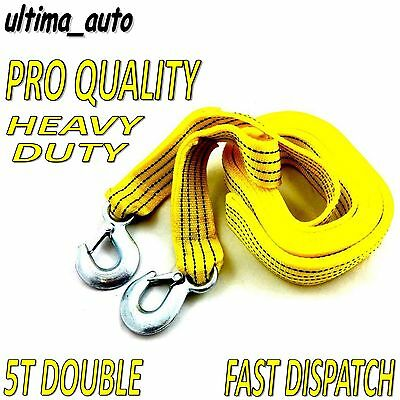 5 TONNE 5T 4.5M Tow Towing Pull Rope Strap Heavy Duty Road Recovery Car Van 4x4