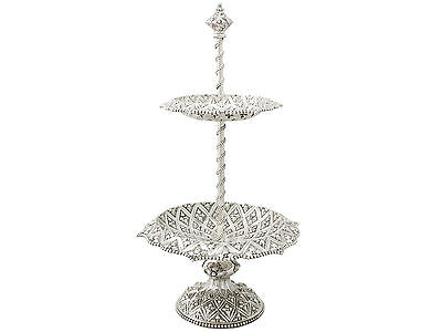 Sterling Silver Cake Stand/Centrepiece by Robert Hennell III - Antique Victorian
