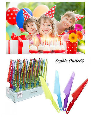 Plastic Cake Knife Tool Serving Measure Cutting Tools Slicer Kids Birthday Party