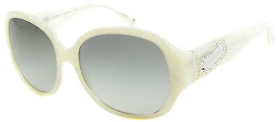 New Coach HC 8037B Angeline 507111 White Marble Plastic Sunglasses