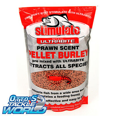 Stimulate Burley Bait Ultrabite Prawn Scented Pellet 1KG  at Otto's Tackle World