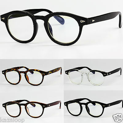 Oval Lens Vintage Retro Fashion Plastic Frame Clear UV400 lenses Glasses