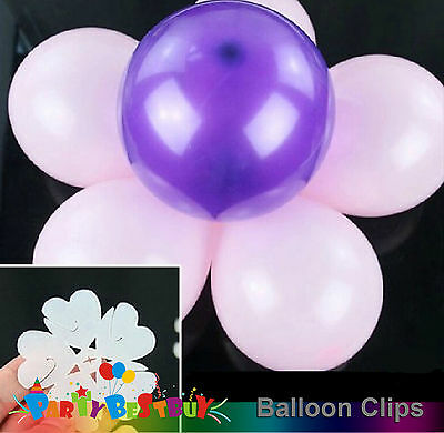 10X Balloon Clip Flower Tie Filled Helium Air Balloons Wedding Party Decoration