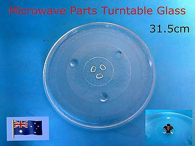 Microwave Oven Glass Turntable Plate Platter 315 mm Suits Many Brand NEW (A116)