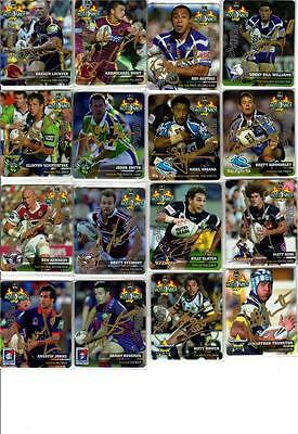 2006 Nrl Signature Tazo Full Gold Set Rugby League Smiths Chips Cards