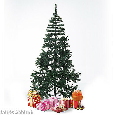 Brand New 6.9' Tall Christmas Tree w/ Stand Fireproof leaves Indoor Outdoor Gn