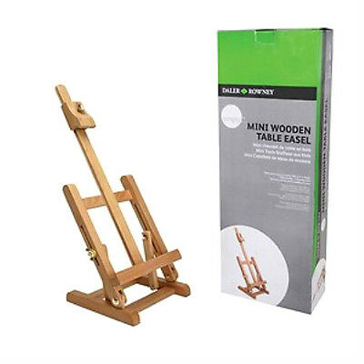 "Daler Rowney Mini Wooden Table Top Easel Display Stand Art Work Up To 12"" 300mm"