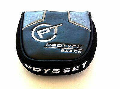 New 1Pcs Odyssey Golf Pt Protype Black Mallet Putter Headcover Head Cover