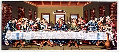 Gobelin L Printed Tapestry/Needlepoint Canvas - The Last Supper (Large)