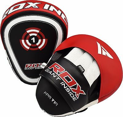 Auth RDX Focus Pads & Mitts Hook & Jab MMA Punch Bag Kick Boxing Muay Thai Red