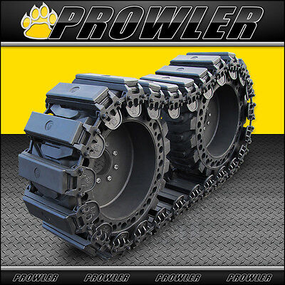 """12"""" Prowler Fusion Skid Steer OTT Tracks with Rubber Pads - Fits 12x16.5 Tires"""