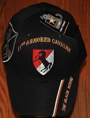 Black 11th Armored Cavalry Regiment Army Hat Baseball Ball Cap The Black Horse