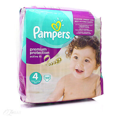 Pampers Premium Protection Active Fit Size 4 Pack 39 Nappies