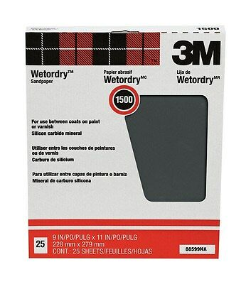 """3m Wet Or Dry Tri-M-Ite Paper Sheets 1500 Grit 9 """" X 11 """""""