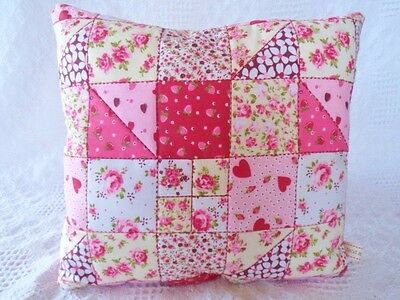 Patchwork Quilting Kit Complete Cushion Craft Kit Sewing for Beginners RED PINK