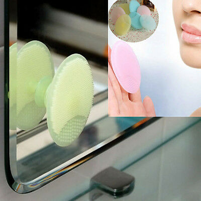 Wash Face Exfoliating Brush Cleaning Pad Facial SPA Skin Scrub Cleanser Tool CIT