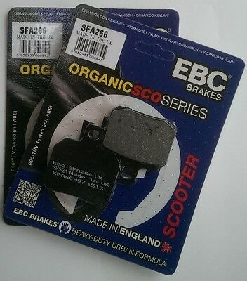 Adiva AD 400 (2009 to 2011) EBC Organic FRONT Disc Brake Pads (SFA266) (2 Sets)