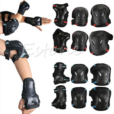 Hot Sell 6pcs Set Kids Adult Skating Scooter Elbow Knee Wrist Safety Pads Gear