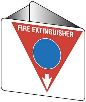 Off Wall 3 Dimensional Sign For Foam Fire Extinguisher Directional 225mmx225mm