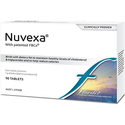 GENUINE Flordis Nuvexa FBCx 90 tablets | Alfadex Weight Loss Reduce Cholesterol