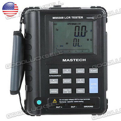 MS5308 Handheld Portable AutoRange LCR Meter 100Khz fit FLUKE dual display US SP