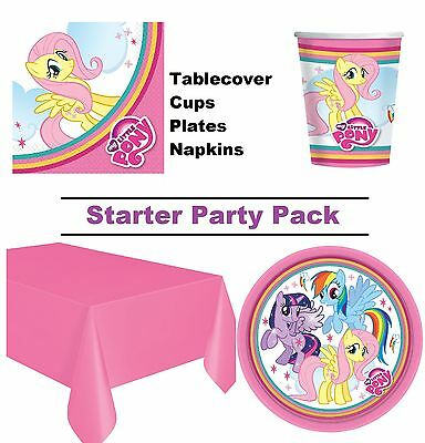 My Little Pony 8-48 Guest Starter Party Pack - Cup | Plate | Napkin | Tablecover