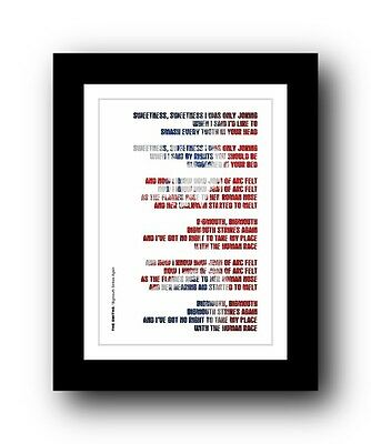 The Smiths ❤ Bigmouth Strikes Again song lyrics poster art limited edition print