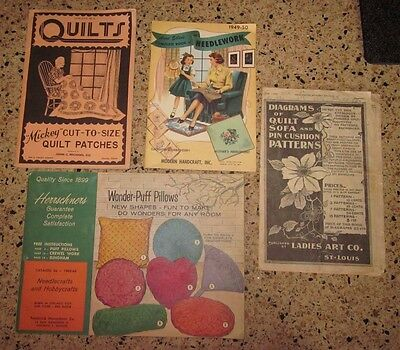 Set of 4 vintage sewing/needlework catalogs from 1950's in very good condition