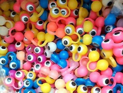 12 pc Glow in dark Finger Eyes Puppets googily kids Pinata Filler Lucky Prize