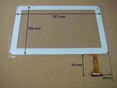 "Vitre tactile 10"" pour tablette MPMAN MP10 QUAD (version 50pin) - 16546"