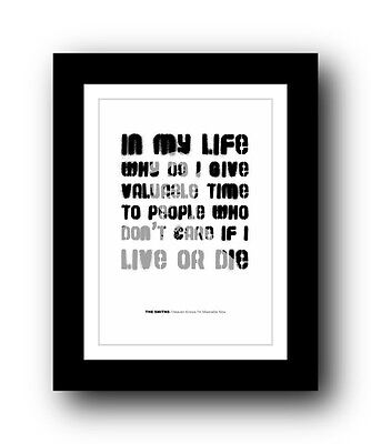 The Smiths ❤ Heaven Knows I'm Miserable Now #3  song lyrics poster Ltd Ed print