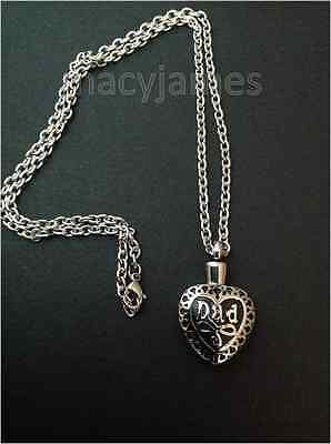 Dad Heart  Urn Necklace Cremation Ashes Ash Keepsake Pendant