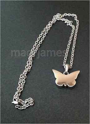 Silver Butterfly Urn Necklace Cremation Ashes Ash Keepsake Pendant