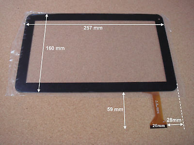 "Vitre tactile 10"" pour tablette LISTO Web pad 1001-2 (version 50pin) - 15556"
