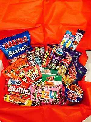 TUCK SHOP Candy Gift Box - Retro Sweets - Birthday Present - Hamper - Chocolate