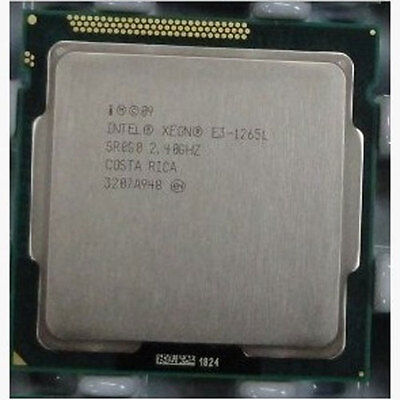 Intel Xeon E3-1265L 2.4GHz Quad Core CPU SR0G0 LGA1155 Gen8 45W TDP Tested