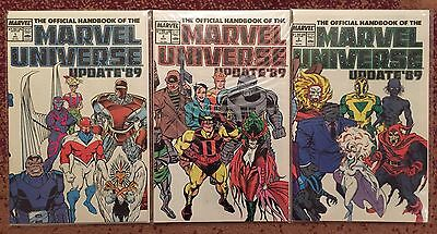 Official Handbook of the Marvel Universe Update '89 #1-8, complete