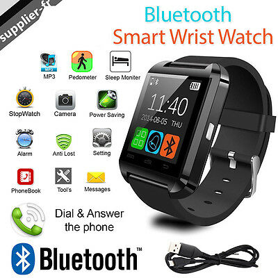 Smart Watch Bluetooth pour Montre Connectée iOS ANDROID iPhone Samsung